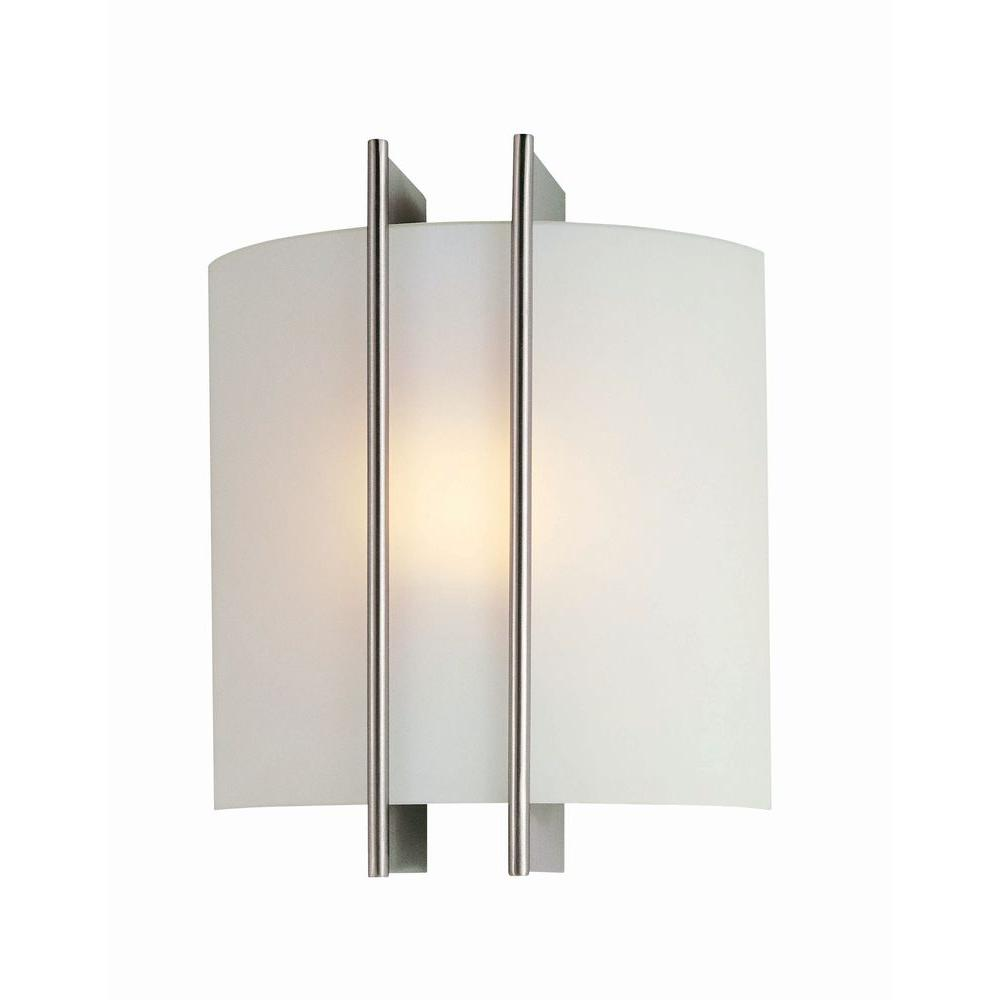 Illumine Reyna 1-Light Steel Sconce with Frosted Glass