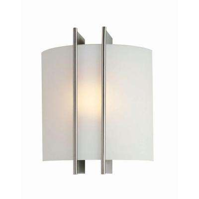 Reyna 1-Light Steel Sconce with Frosted Glass