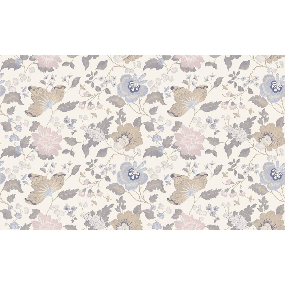 Latrice Multicolor Floral Wallpaper Sample