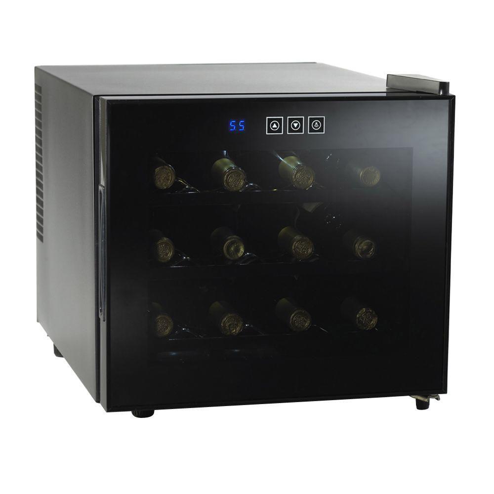 Wine Enthusiast 12-Bottle Silent Touchscreen Wine Cooler