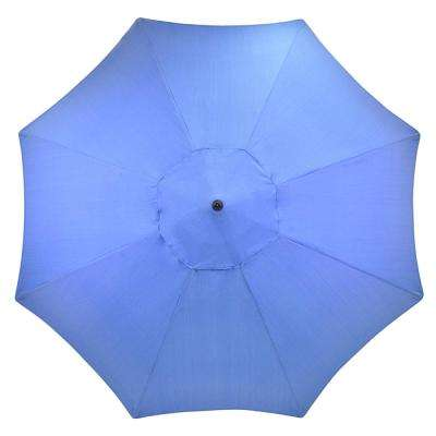 11 ft. Aluminum Patio Umbrella in Periwinkle
