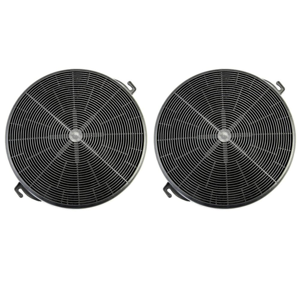 Winflo Range Hood Charcoal/Carbon Filters for Ductless Ventless Recirculating Installation and Replacement (Set of 2-Piece)