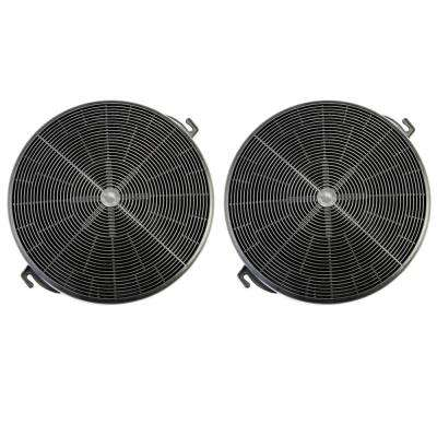 Range Hood Charcoal/Carbon Filters for Ductless Ventless Recirculating  Installation and Replacement (Set of 2-Piece)
