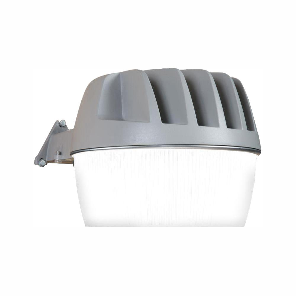 all-pro gray outdoor integrated led area dusk to dawn security light with  built-