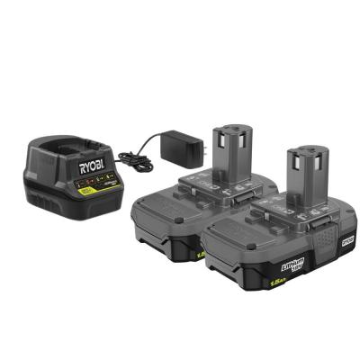 18-Volt ONE+ Lithium-Ion 1.5 Ah Compact Battery (2-Pack) with Charger Kit