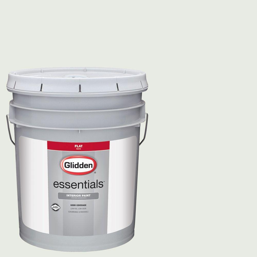 Glidden Essentials 5 Gal Hdgcn15u Hint Of Green Flat Interior