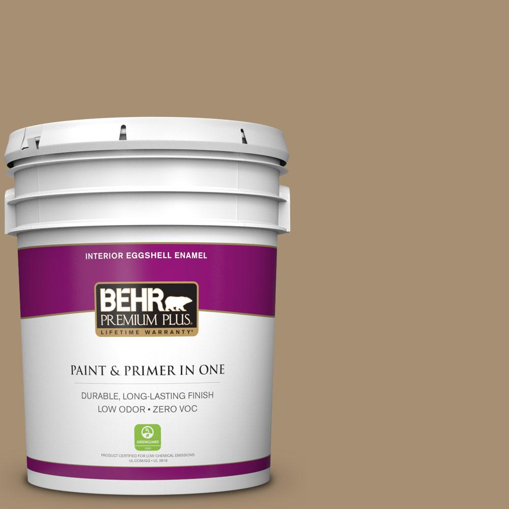 5 gal. #N300-5 Hidden Treasure Zero VOC Eggshell Enamel Interior Paint