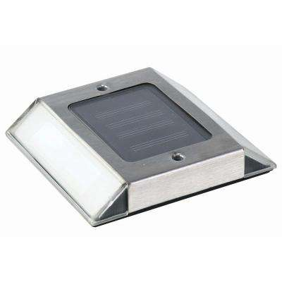 Outdoor Stainless Steel Solar Path Light (2-Pack)