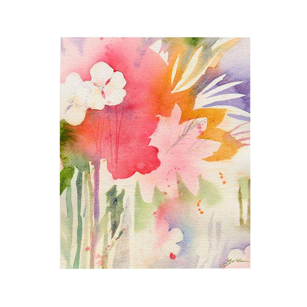Trademark Fine Art 26 in. x 32 in. Pink Floral Shadows Canvas Art