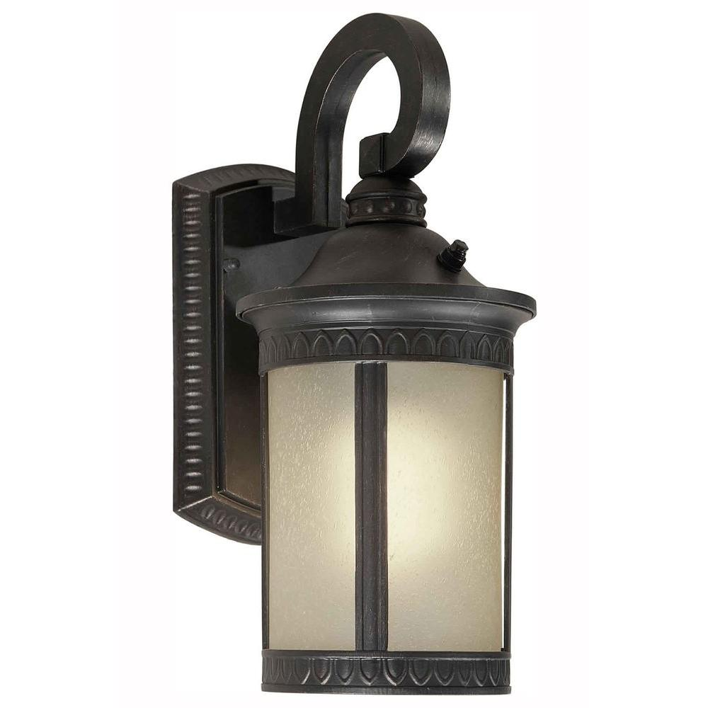 Talista Burton 1 Light Bordeaux Outdoor Halogen Wall Mount Light