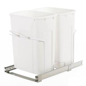 Knape & Vogt 14.38 inch x 22 inch x 18.75 inch In Cabinet Pull-Out Bottom Mount Trash Can by Knape & Vogt
