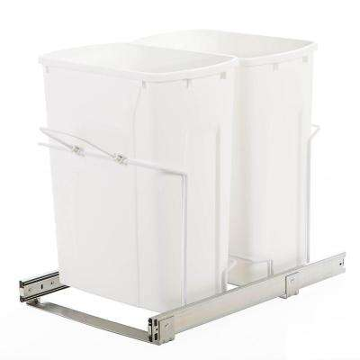 14.38 in. x 22 in. x 18.75 in. In Cabinet Pull-Out Bottom Mount Trash Can