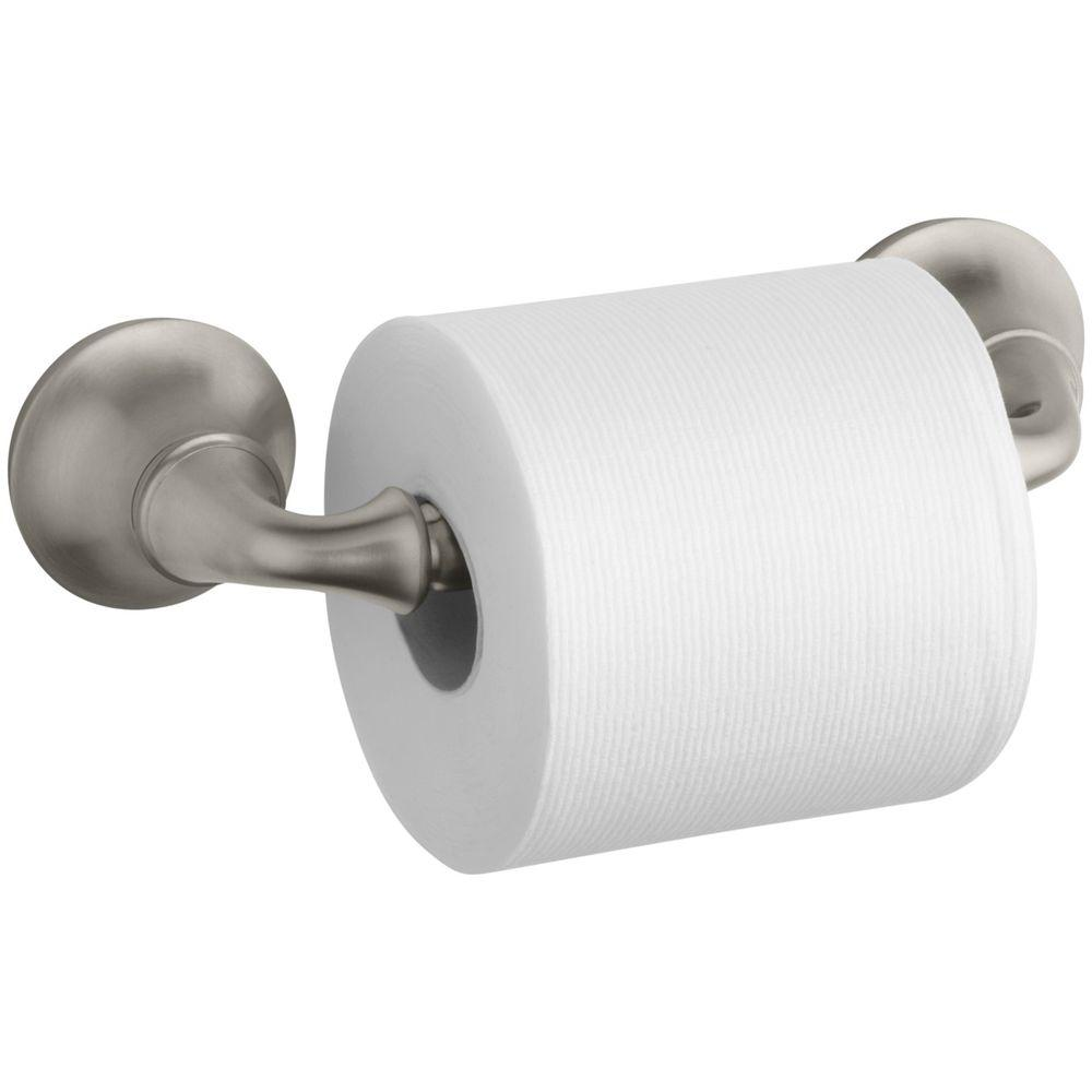 Kohler Forte Sculpted Wall Mount Double Post Toilet Paper Holder In