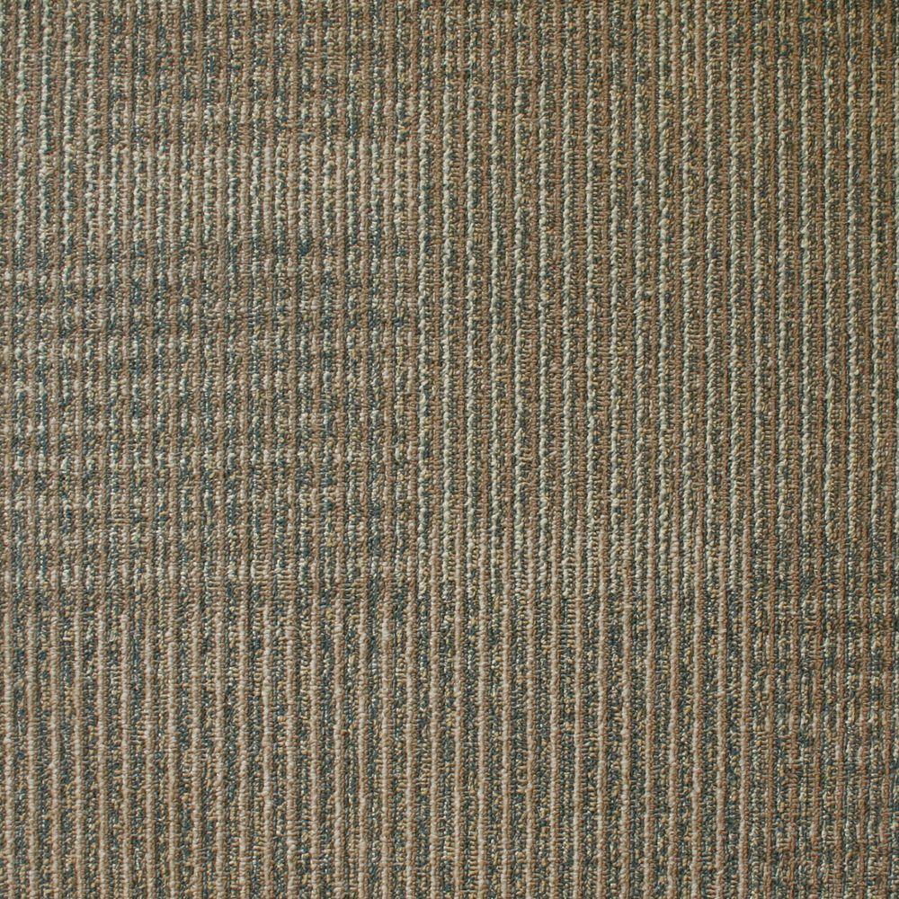 EuroTile Park Avenue Biscuit Loop 19.7 in. x 19.7 in. Carpet Tile (20 Piece/Case)