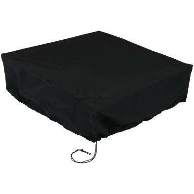 40 in. sq. x 18 in. H Square Black Outdoor Fire Pit Cover