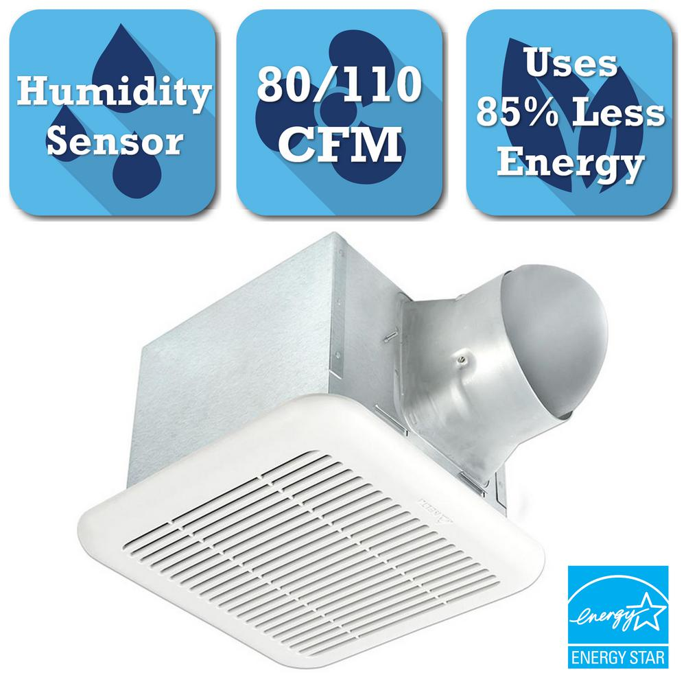 Signature 80/110 CFM Adjustable Speed Ceiling Exhaust Bat...
