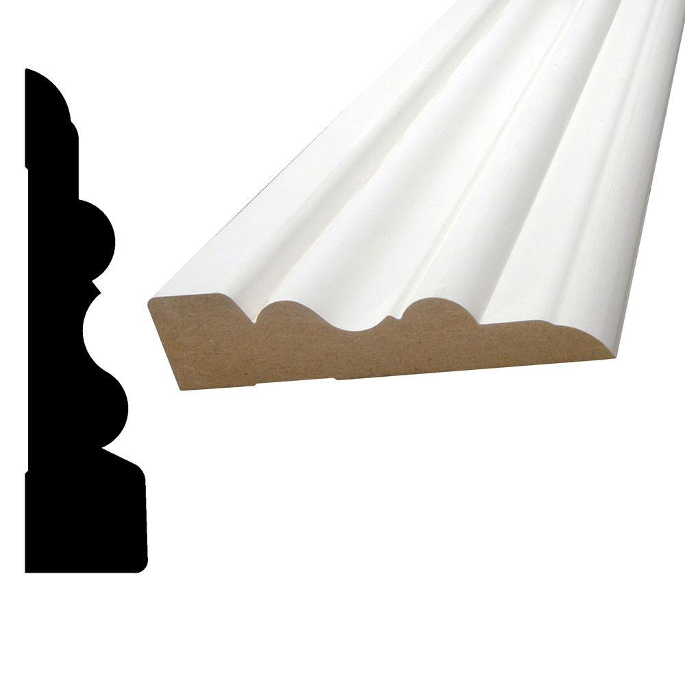 1 in. x 4-1/8 in. x 96 in. Primed MDF Casing