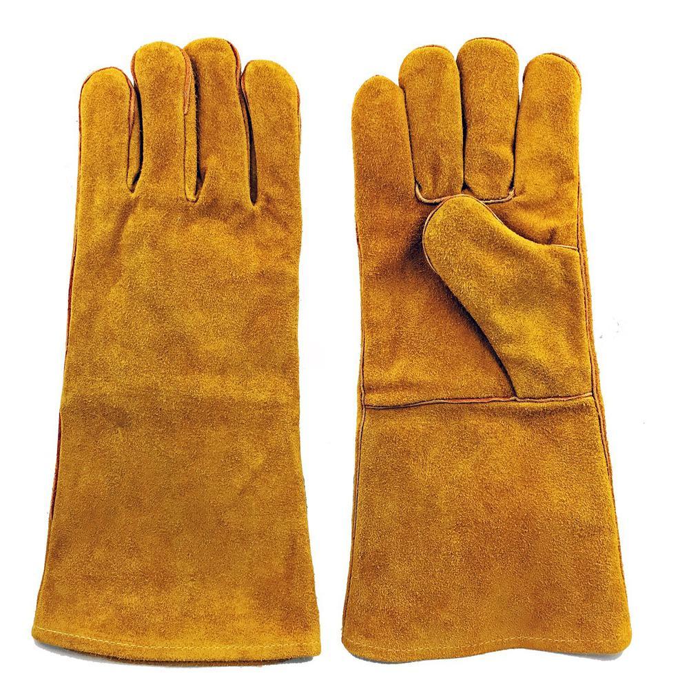 Large Brown Split Leather Welding Gloves