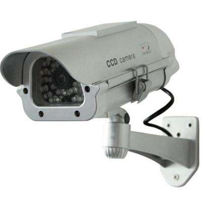 Solar Indoor/Outdoor Dummy Security Camera with LED (4-Pack)
