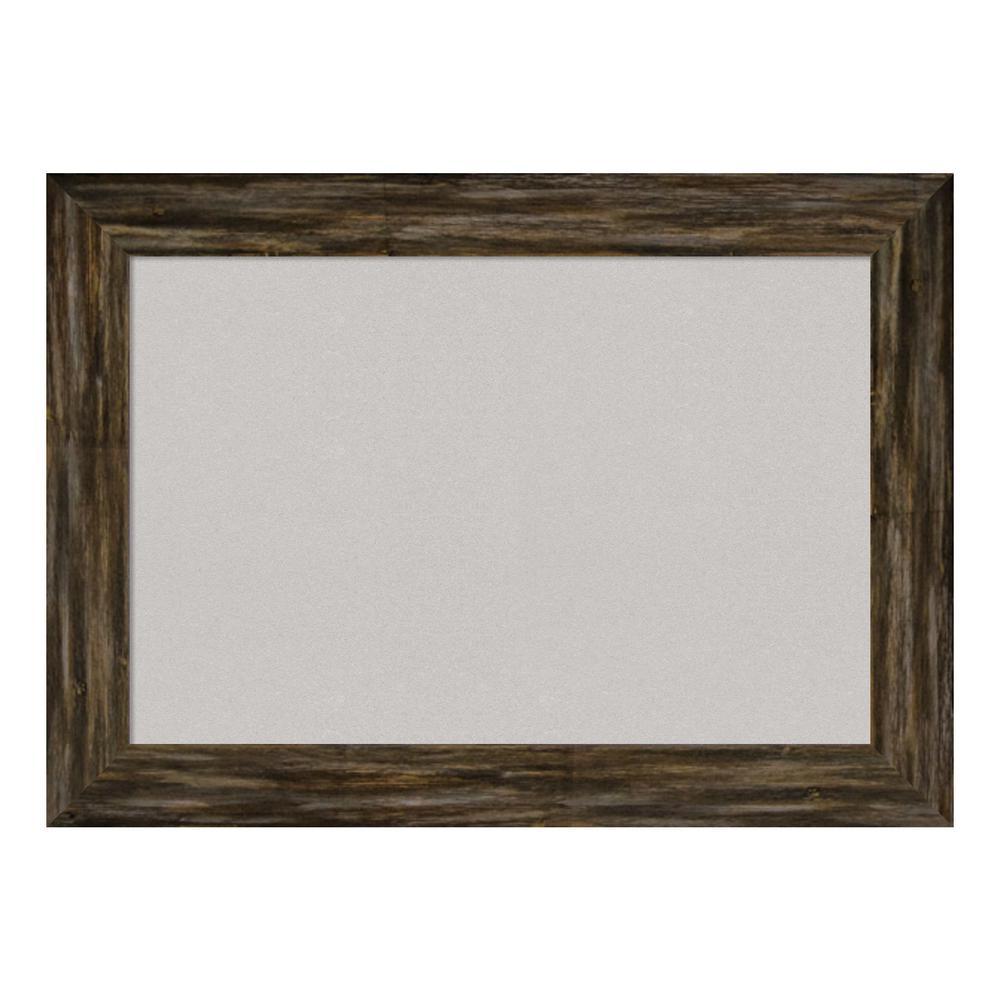 Fencepost Brown Narrow Framed Grey Cork Memo Board