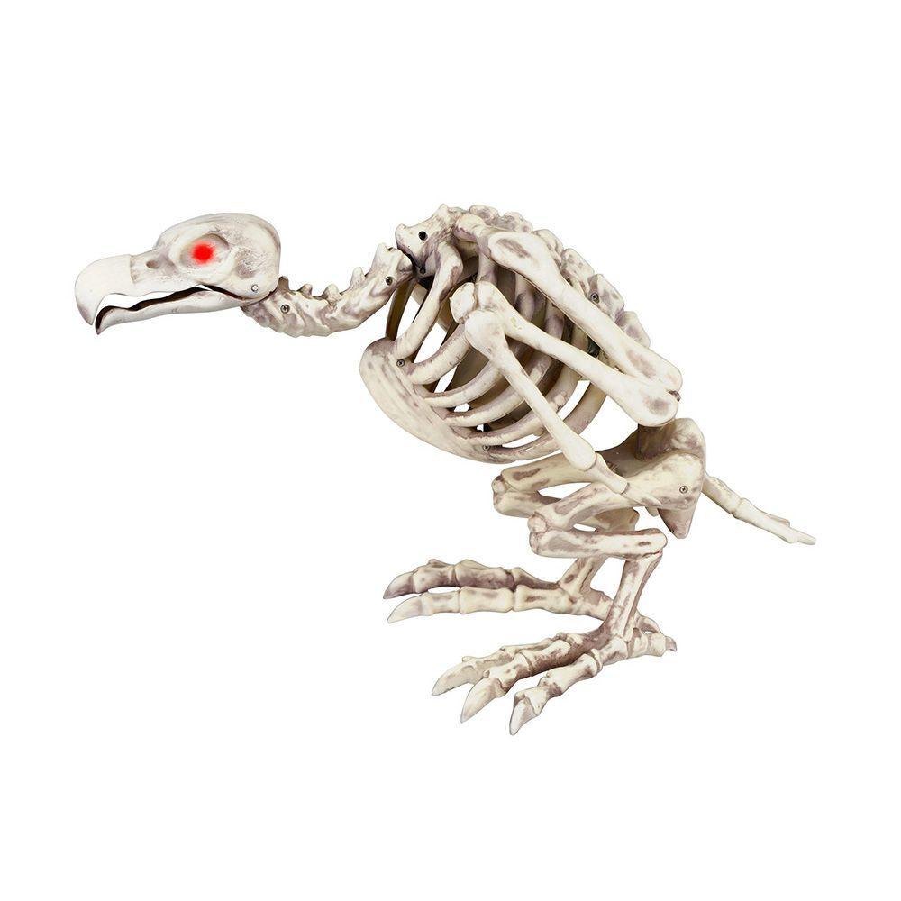 10 in. Animated Skeleton Buzzard with LED Illuminated Eyes