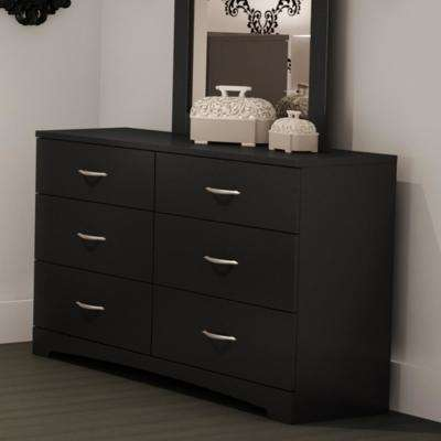 Step One 6-Drawer Pure Black Dresser
