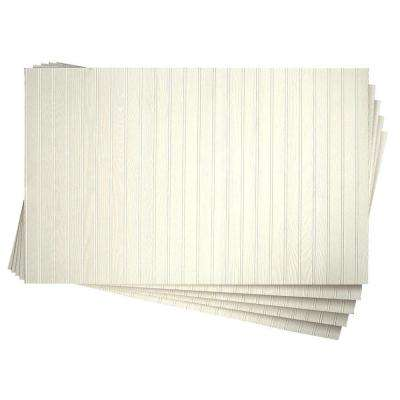3/16 in. x 32 in. x 48 in. DPI Pinetex White Wainscot Panel (5-Pack)