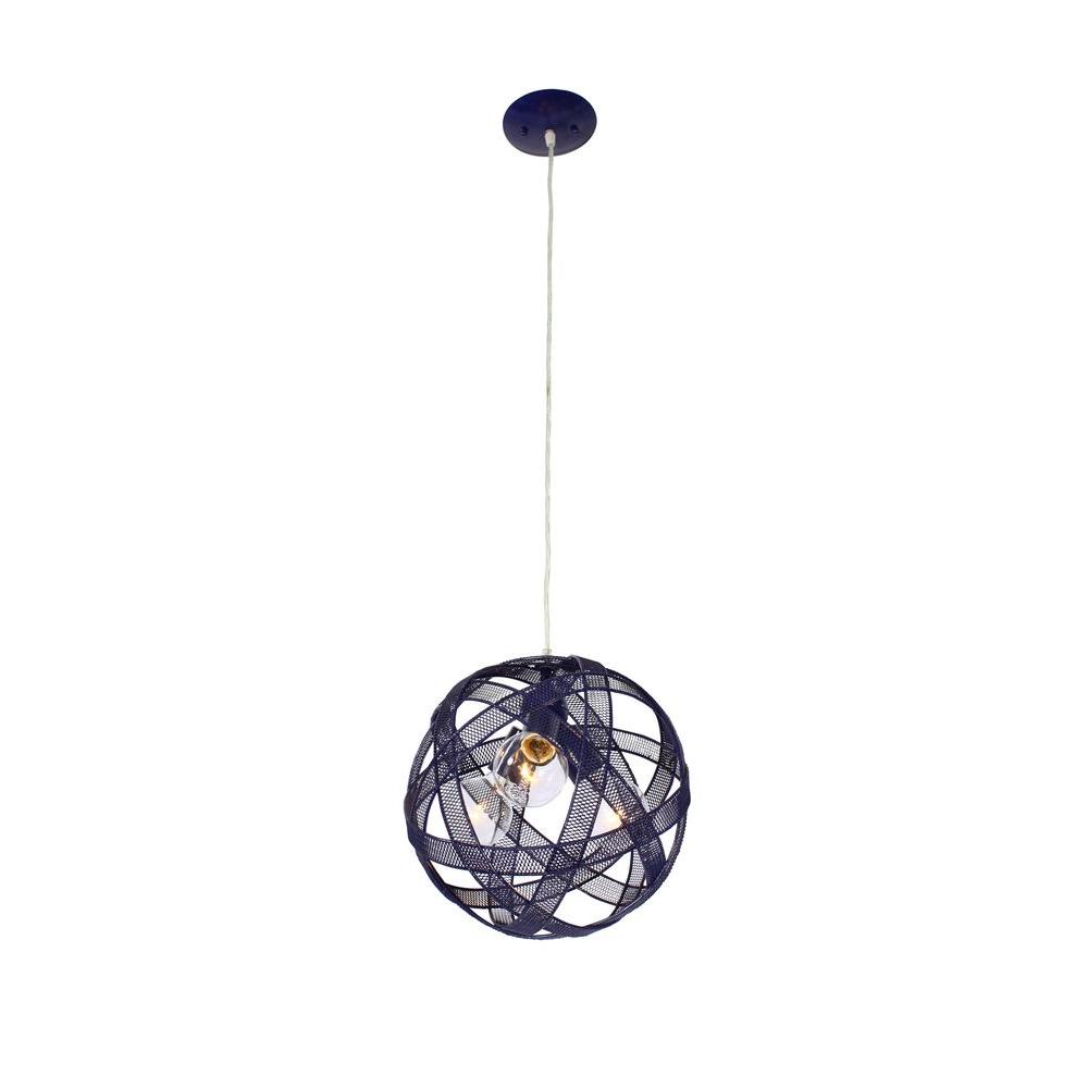 Varaluz At-Mesh-Sphere 3-Light Gilbert Grape Pendant