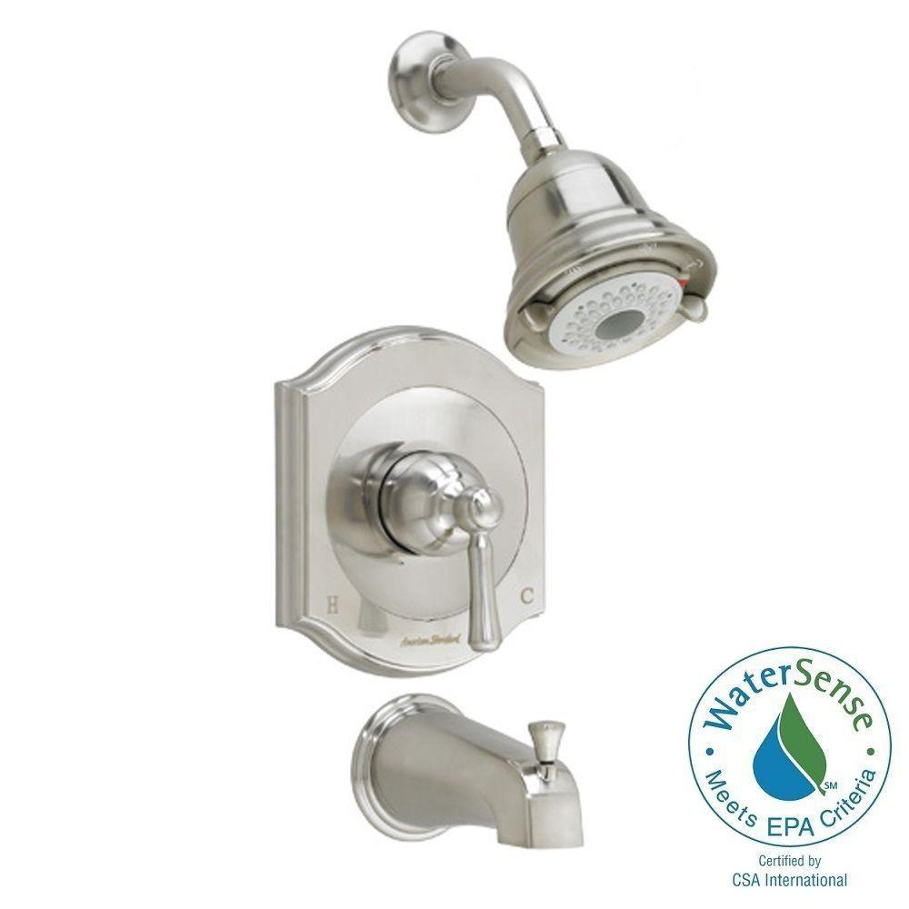 American Standard Portsmouth 1-Handle Tub and Shower Faucet Trim Kit in Brushed Nickel (Valve Sold Separately)