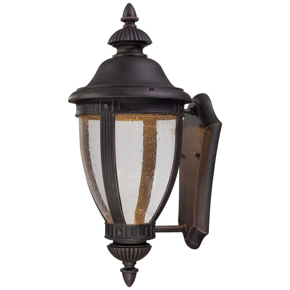 The Great Outdoors By Minka Lavery Wynterfield LED 1 Light Iron Oxide Outdoor Wall