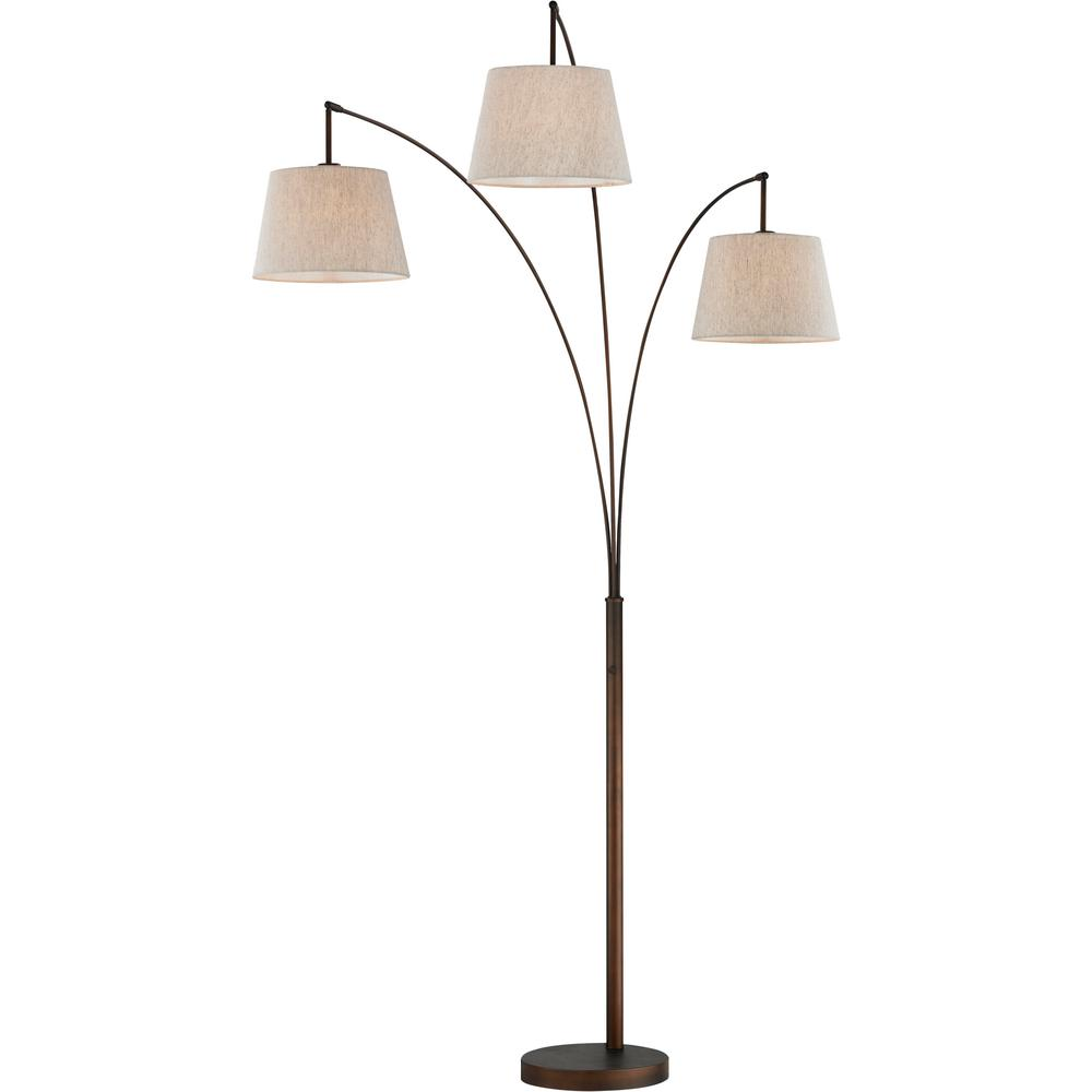 With Luce Bronze 84 Led InAntique Arched Dimmer Floor Artiva Lamp sChrQtd