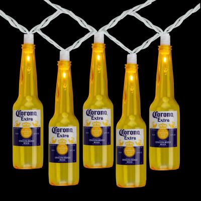 9 ft. 10-Light Clear Corona Extra Beer Bottle Summer Patio Incandescent Mini Lights with White Wire