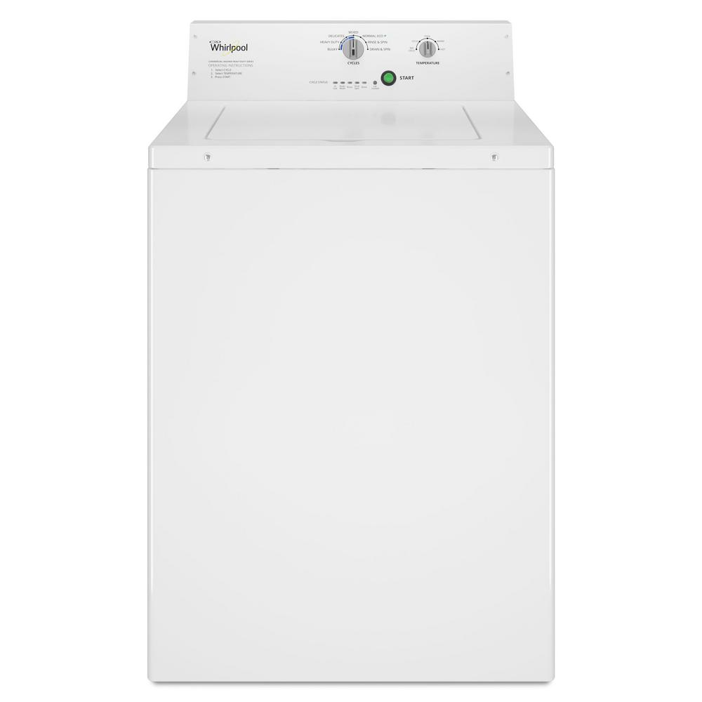 3.3 cu. ft. White Commercial Top Load Washing Machine