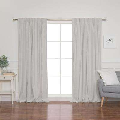 Linen Look 52 in. W x 84 in. L Back Tab Curtains in Linen (2-Pack)