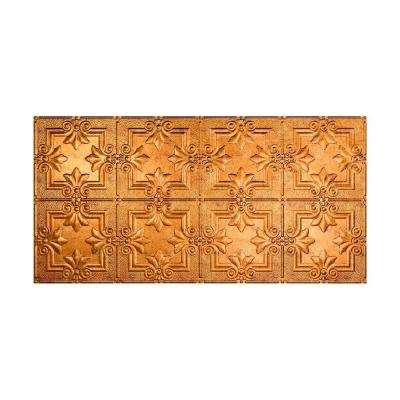 Regalia 2 ft. x 4 ft. Glue-up Ceiling Tile in Muted Gold