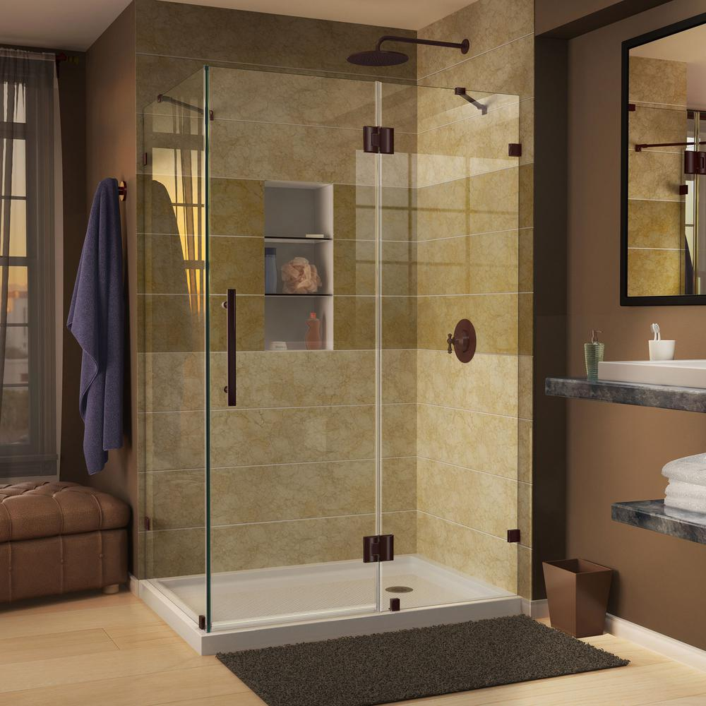 Dreamline Quatra Lux 34.3125-In To 34.3125-In Frameless Hinged Shower