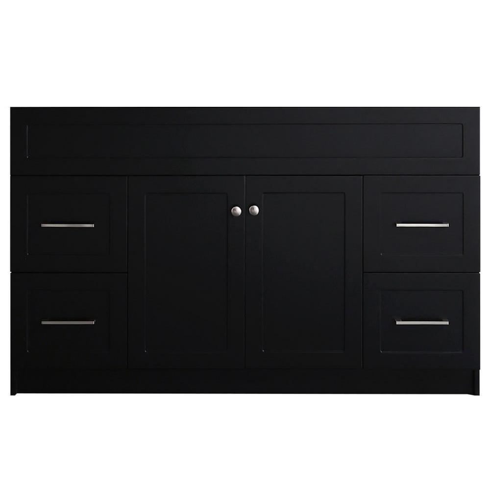 Hamlet 54 in. W x 21.5 in. D x 33.5 in. H Bath Vanity Cabinet Only in Black