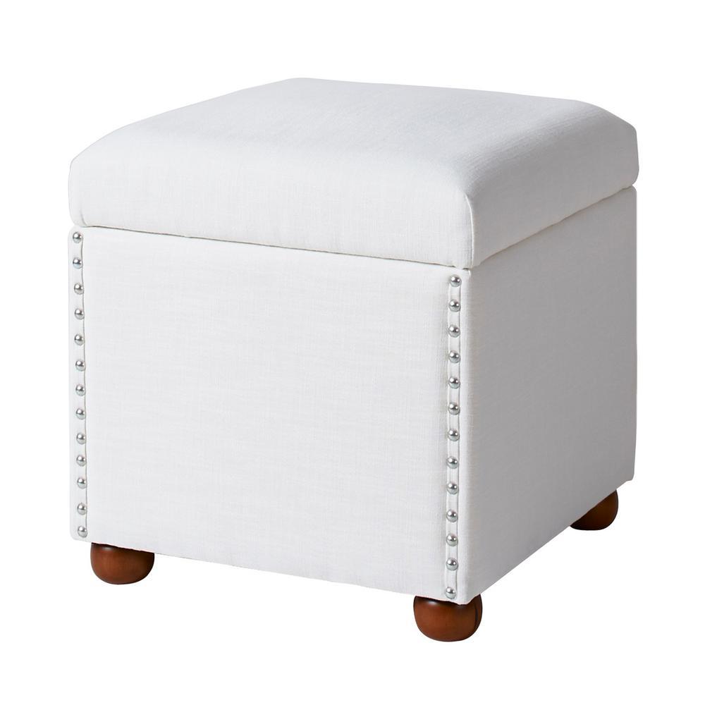 Hailey Antique White Storage Cube