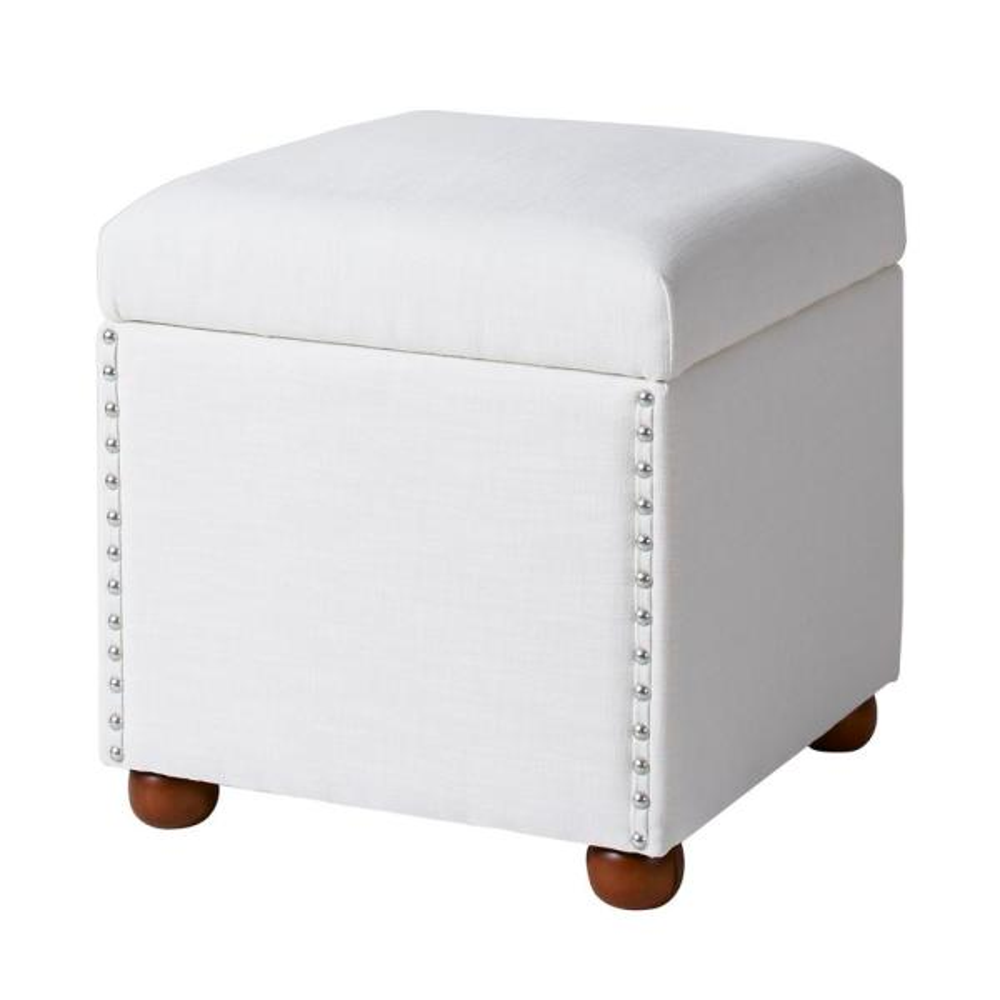 Jennifer Taylor Hailey Antique White Storage Cube