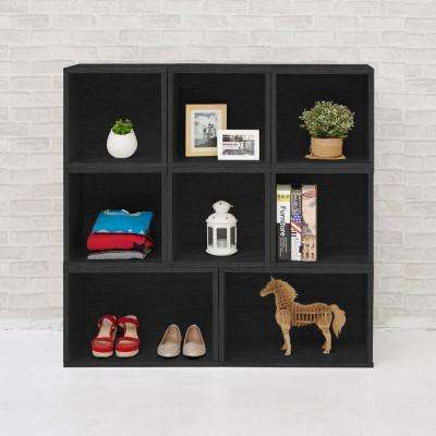 Blox System  Milan Eco zBoard Tool Free Assembly Black Stackable Modular Open Bookcase
