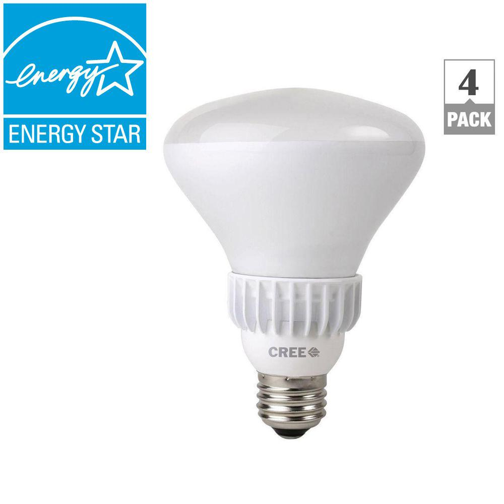 Cree 65W Equivalent Soft White (2700K) BR30 Dimmable LED Flood Light Bulb (4-Pack)
