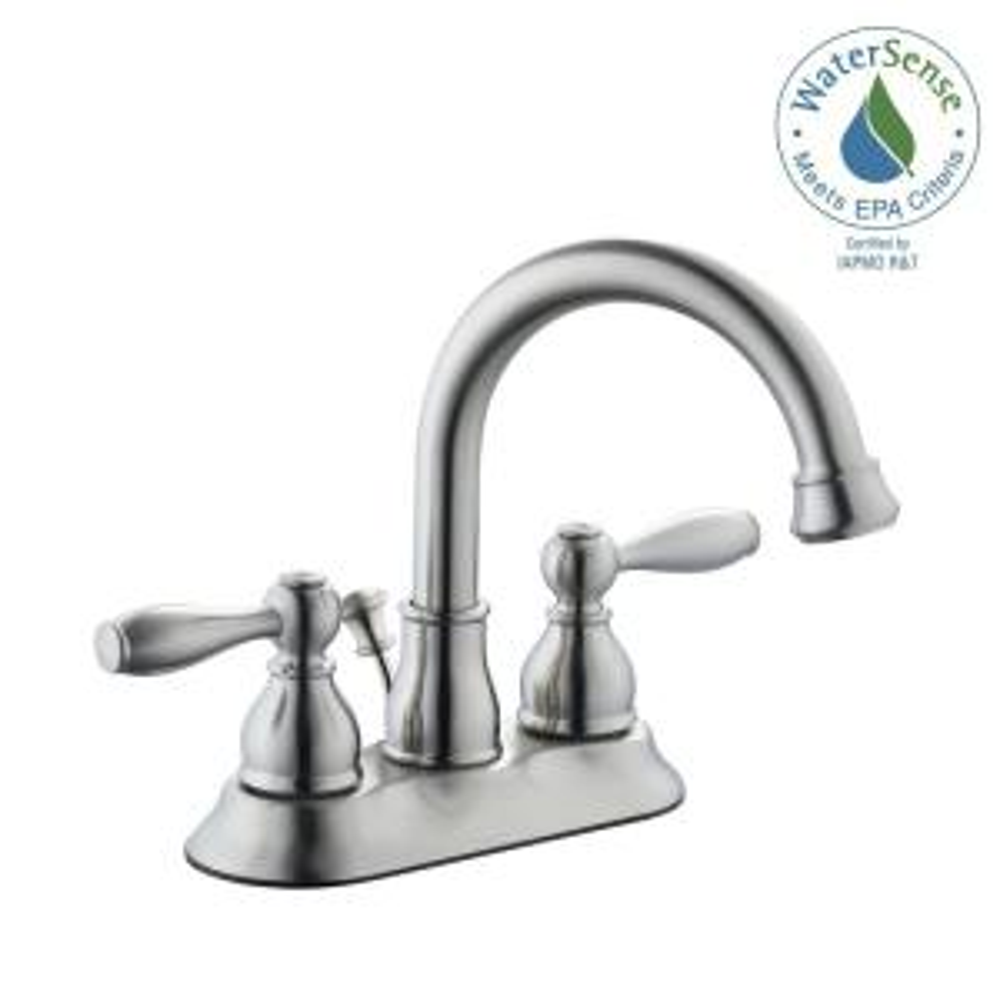 Bathroom Faucet Glacier Bay glacier bay mandouri 4 in. centerset 2-handle led bathroom faucet