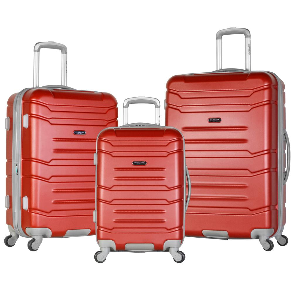 Olympia USA DENMARK 3-Piece ABS Expandable Hardcase Spinner, Red was $500.0 now $250.0 (50.0% off)