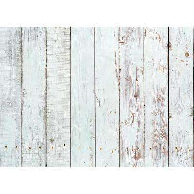 25.6 in. x 18.6 in. White Wood Kitchen Panel