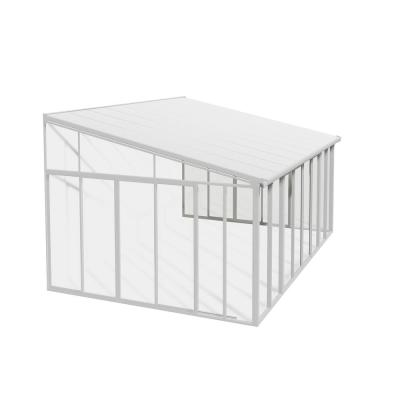 SanRemo 14 ft. x 13 ft. White/White Patio Enclosure