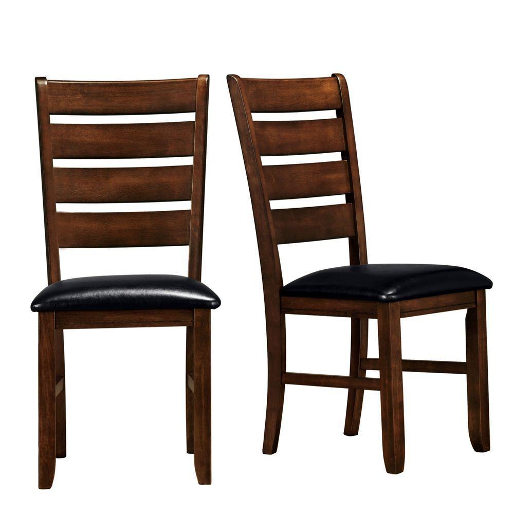 HomeSullivan Dark Oak Finish Side Chair (Set of 2)
