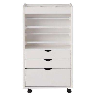 Stanton 20 in. W Wrapping Cart in White
