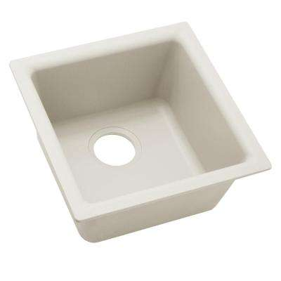 Quartz Luxe Drop-In/Undermount Composite 16 in. Bar Sink in Ricotta