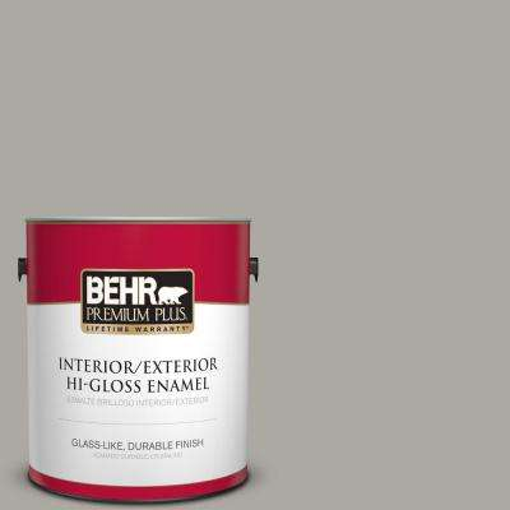 1 gal. #PPU24-10 Downtown Gray Hi-Gloss Enamel Interior/Exterior Paint