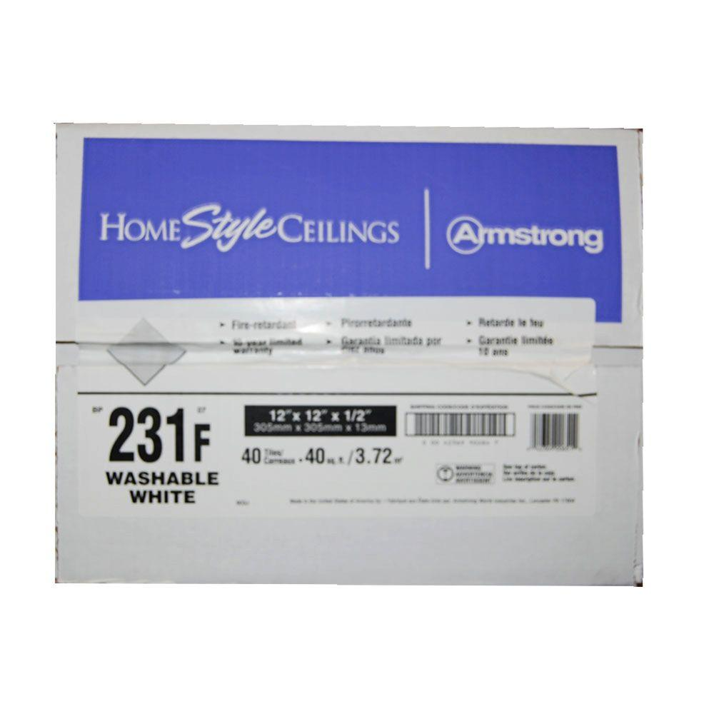 Armstrong Washable White 12 In. X 12 In. X 1/2 In.